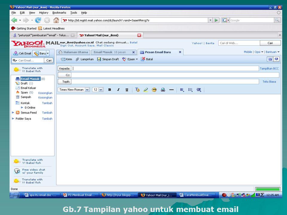 Gb.7 Tampilan yahoo untuk membuat email