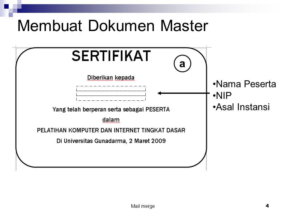 Membuat Dokumen Master