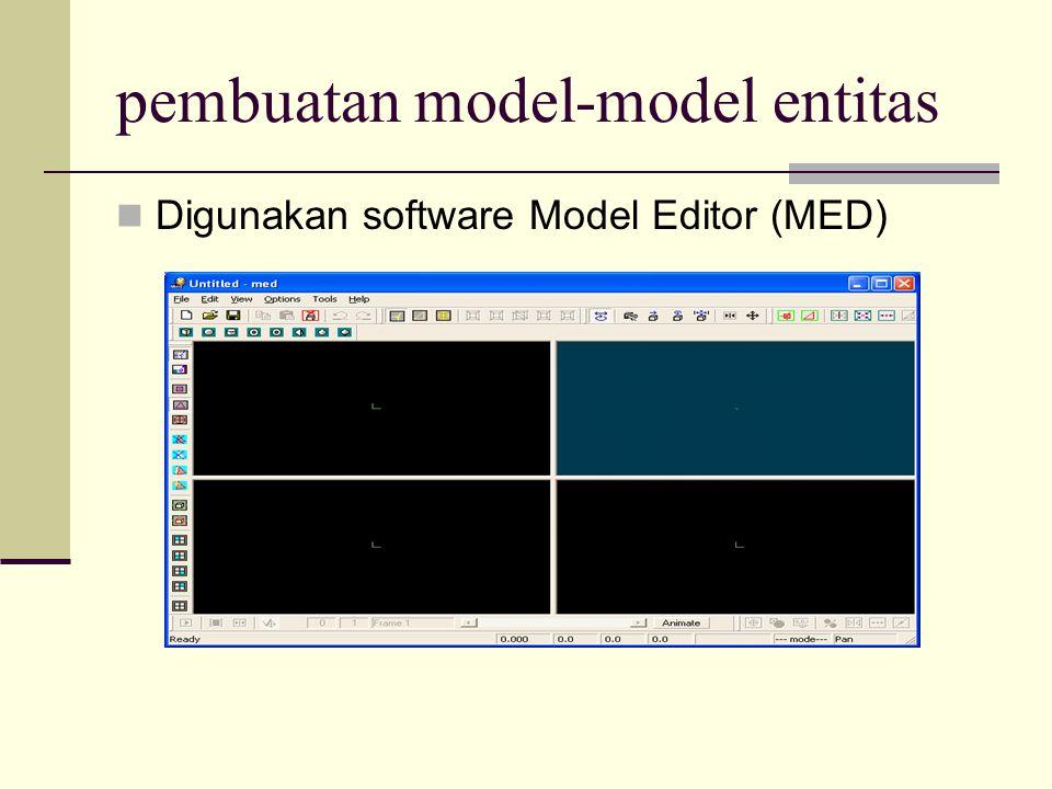 pembuatan model-model entitas