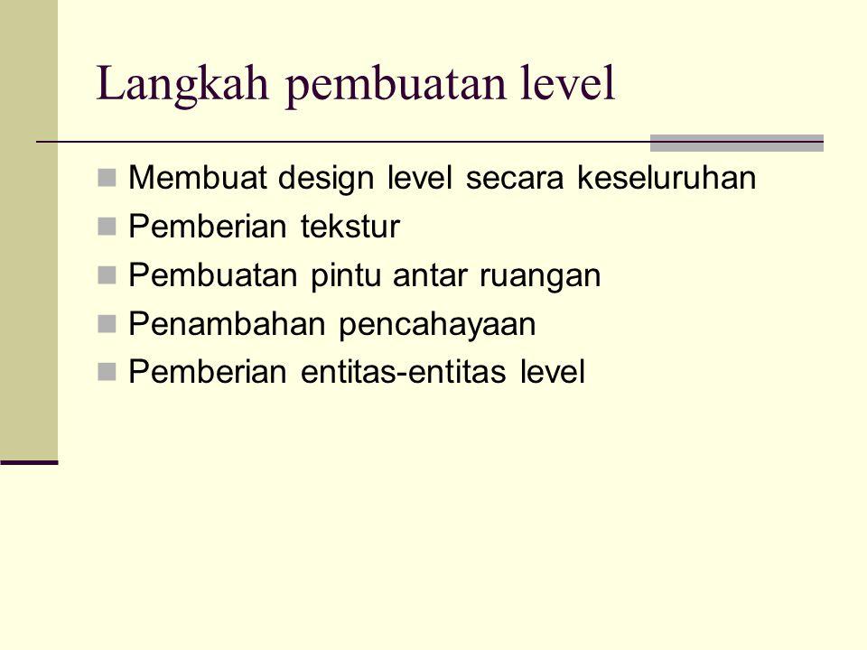 Langkah pembuatan level