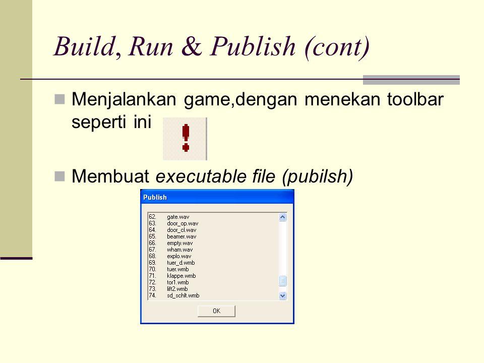 Build, Run & Publish (cont)