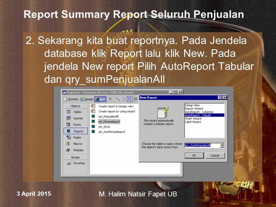Report Summary Report Seluruh Penjualan