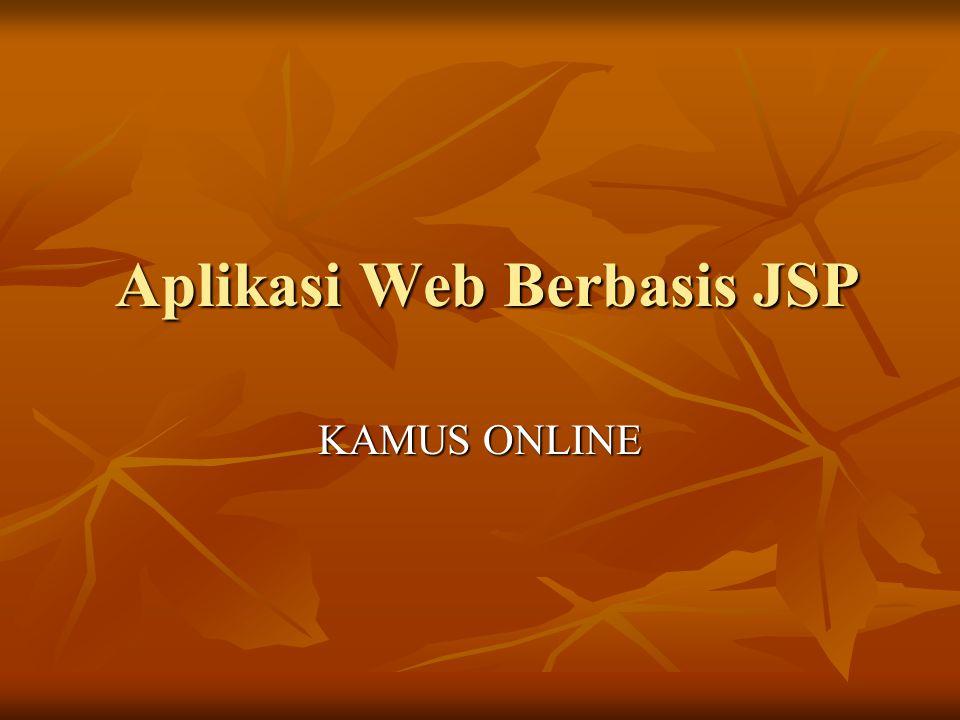 Aplikasi Web Berbasis JSP