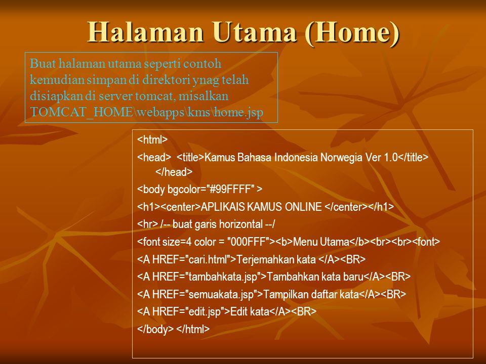 Halaman Utama (Home)