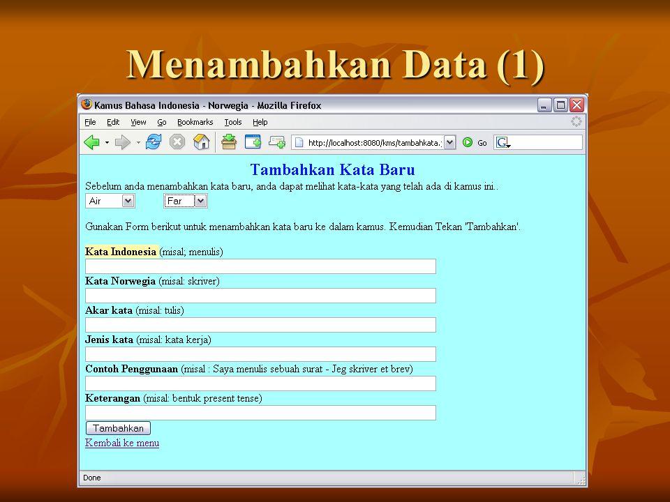 Menambahkan Data (1)