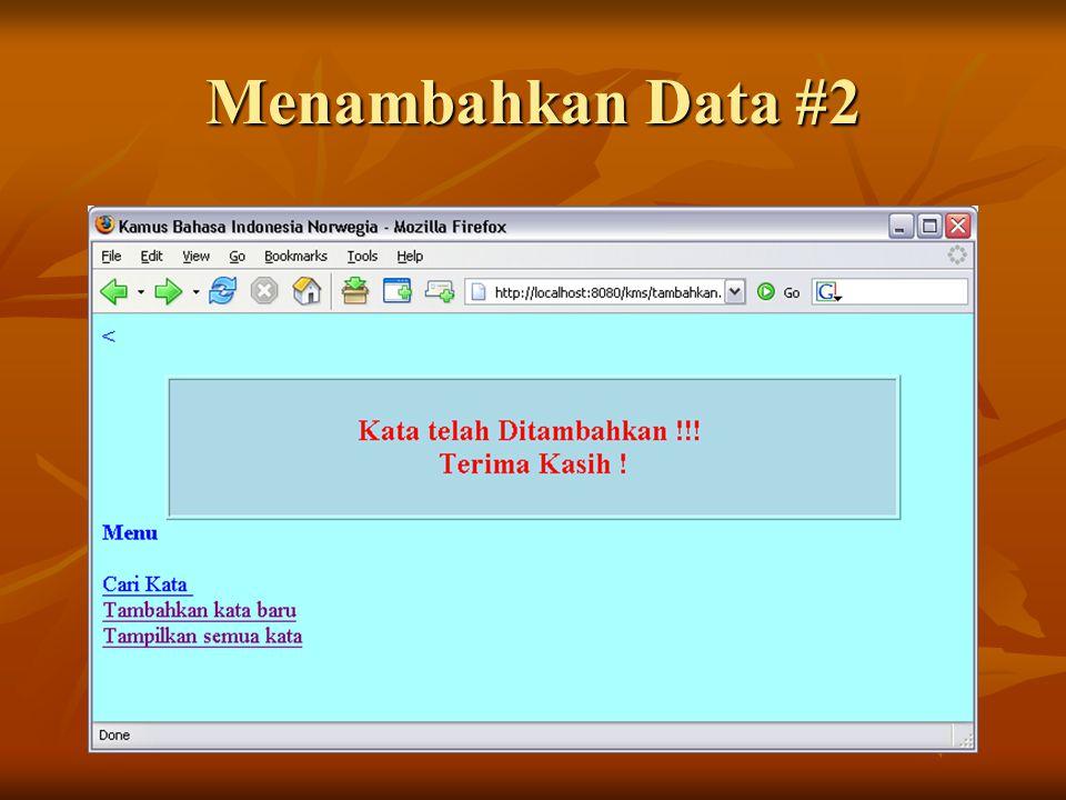 Menambahkan Data #2