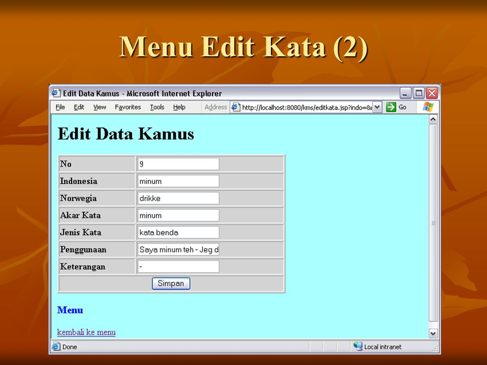 Menu Edit Kata (2)