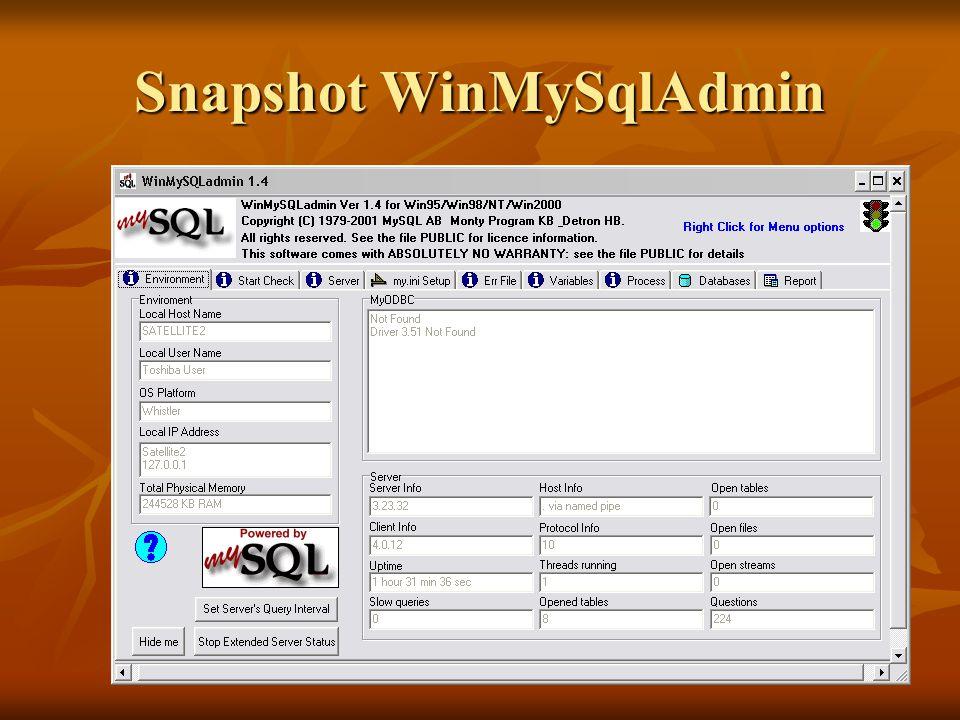 Snapshot WinMySqlAdmin