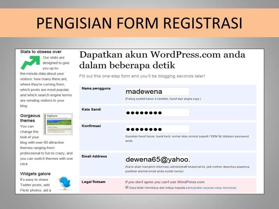 PENGISIAN FORM REGISTRASI