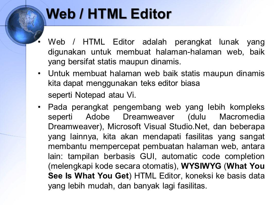 Web / HTML Editor