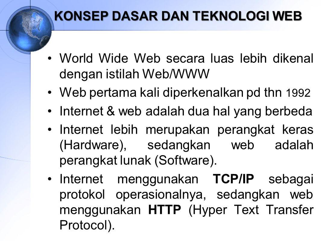 KONSEP DASAR DAN TEKNOLOGI WEB