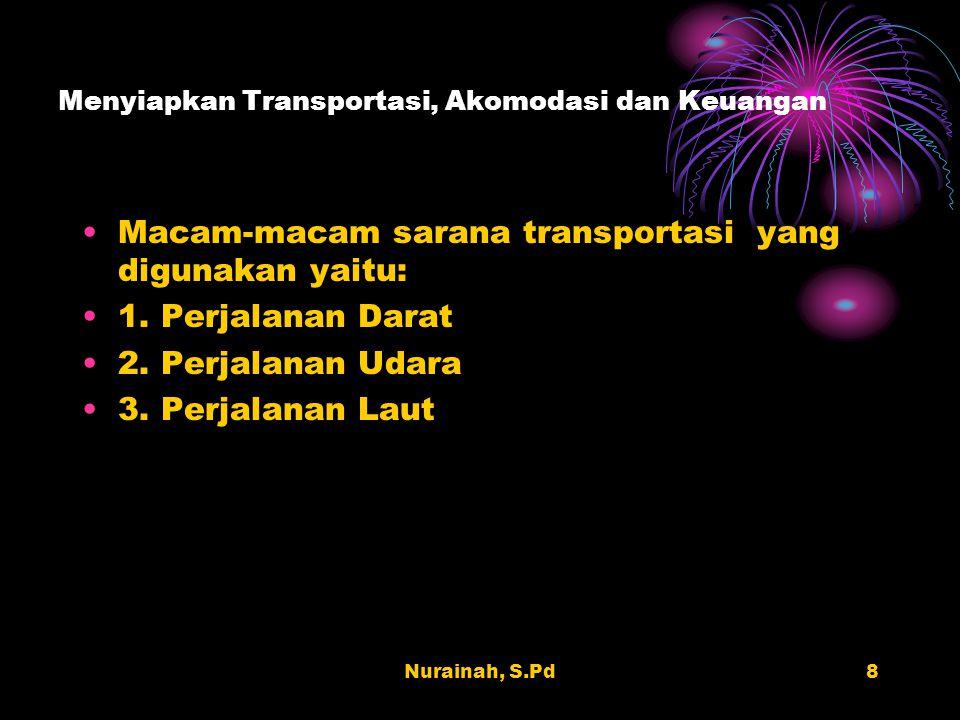 Menyiapkan Transportasi, Akomodasi dan Keuangan