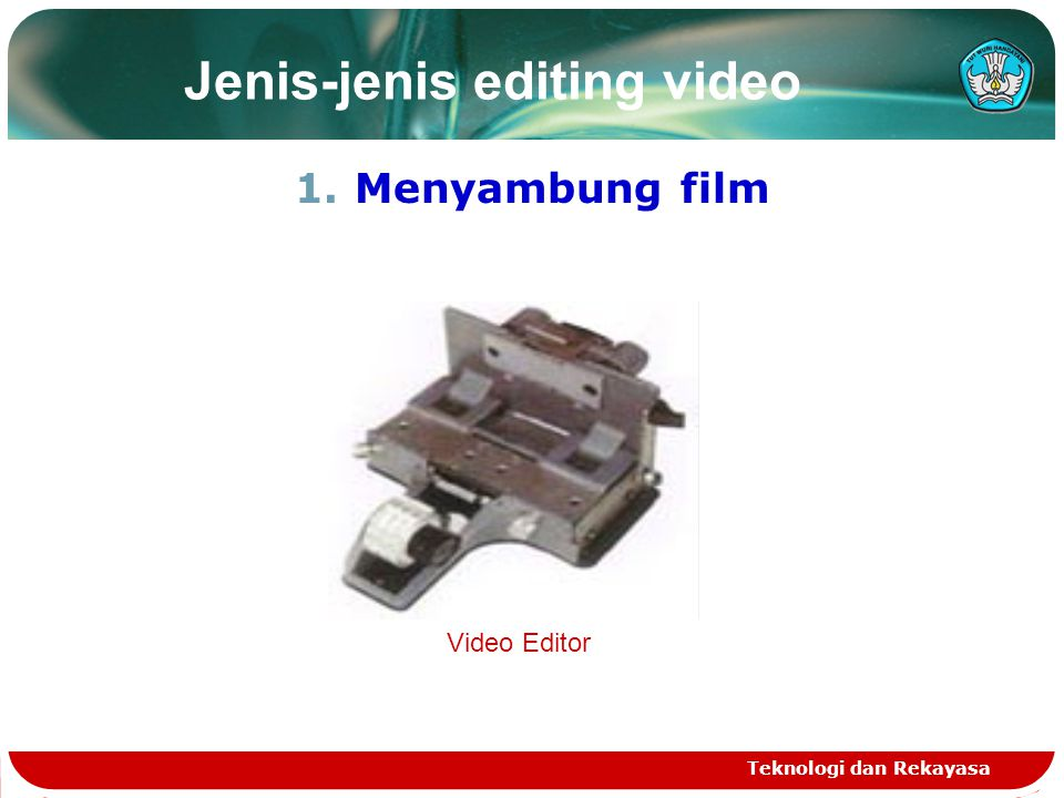Jenis-jenis editing video