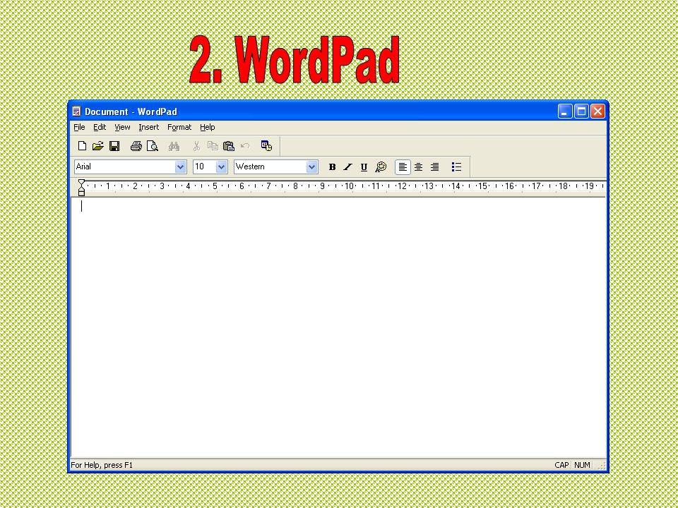 2. WordPad