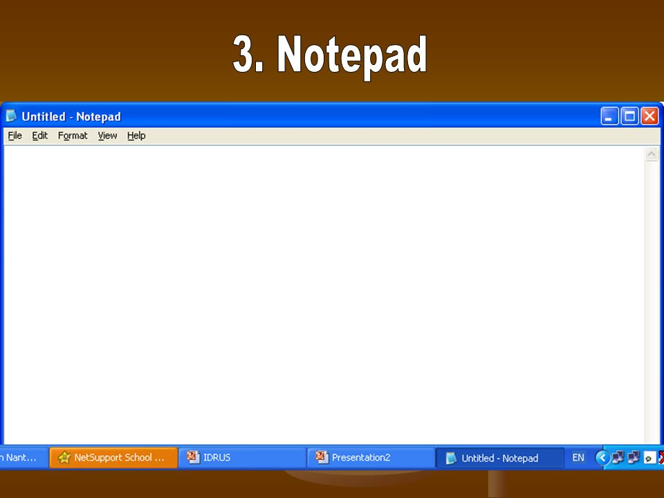 3. Notepad