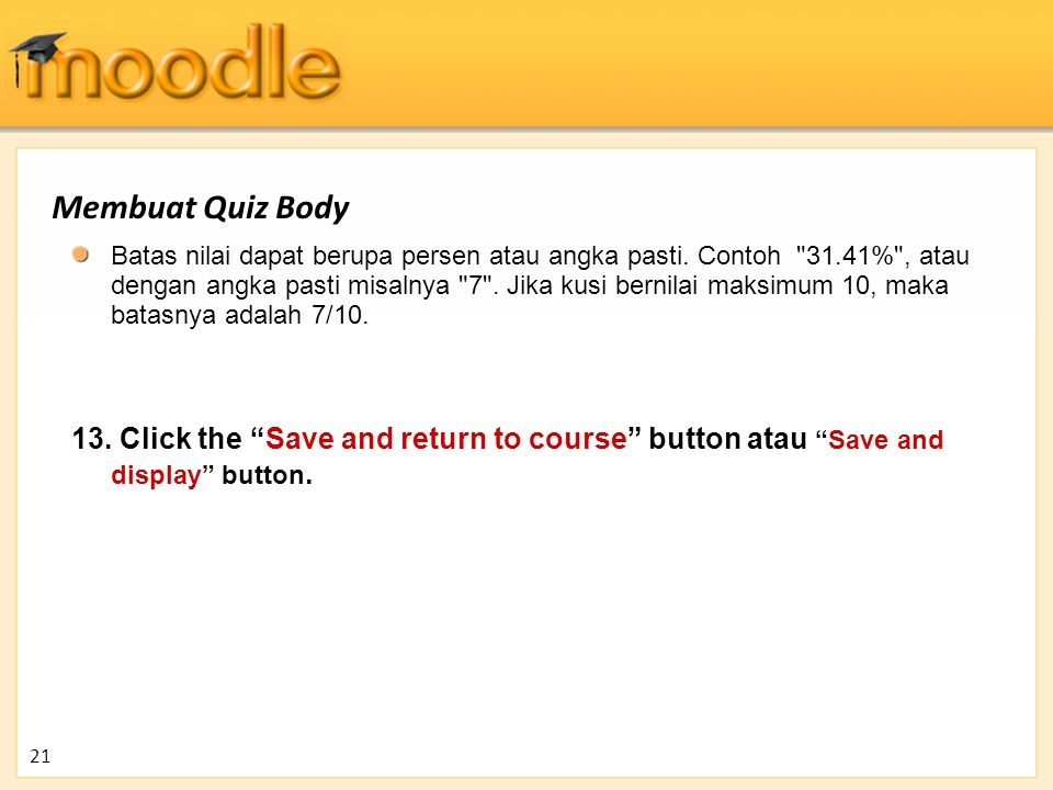 Membuat Quiz Body