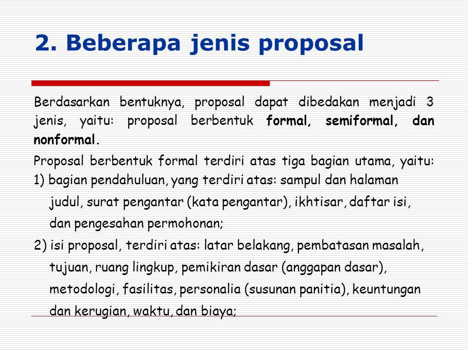 2. Beberapa jenis proposal
