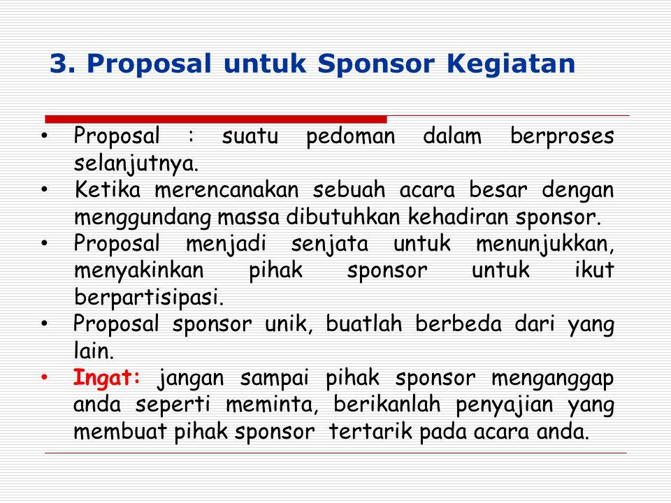 3. Proposal untuk Sponsor Kegiatan