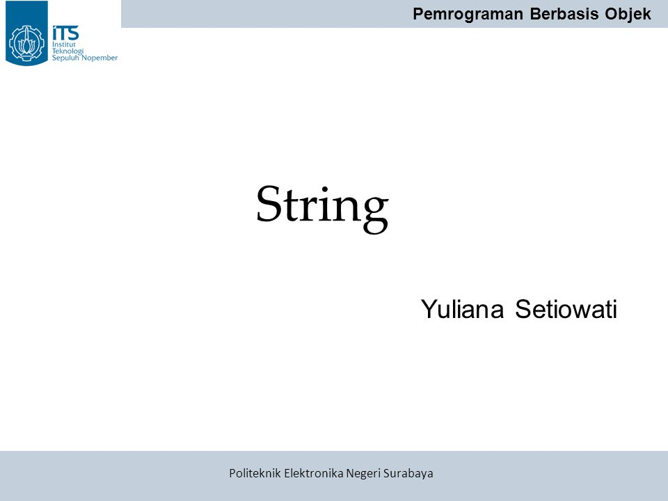 String Yuliana Setiowati