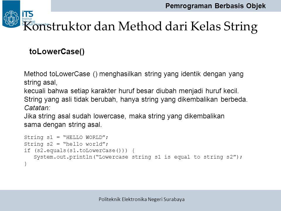 Konstruktor dan Method dari Kelas String