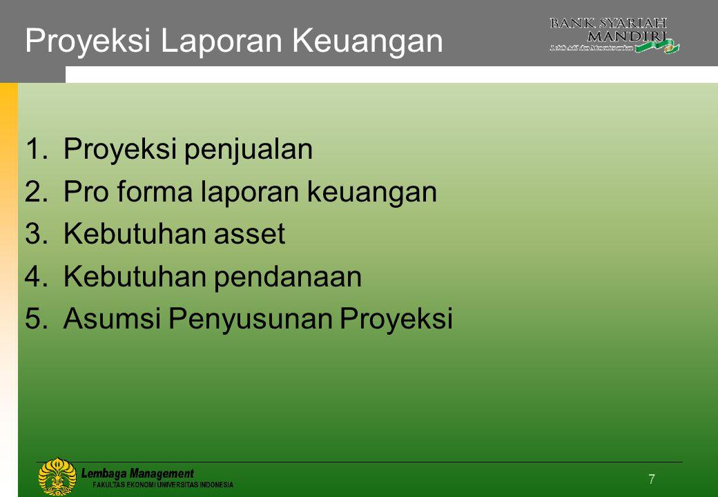 Proyeksi Laporan Keuangan