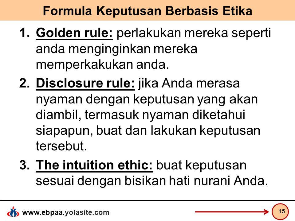 Formula Keputusan Berbasis Etika