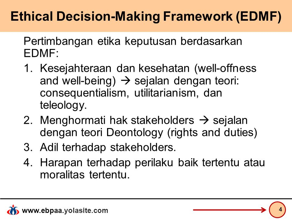 Ethical Decision-Making Framework (EDMF)