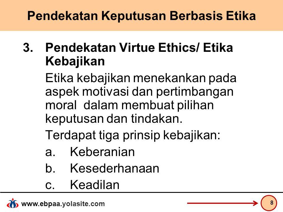 Pendekatan Keputusan Berbasis Etika