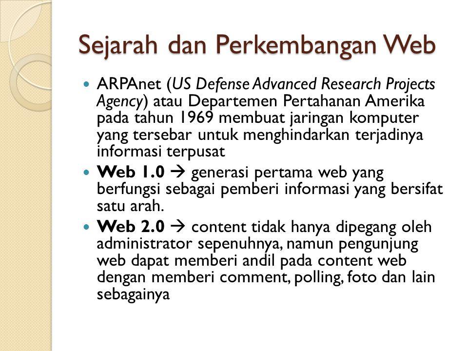 Sejarah dan Perkembangan Web