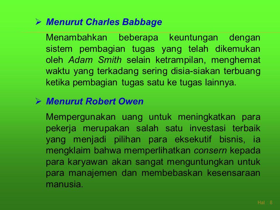 Menurut Charles Babbage