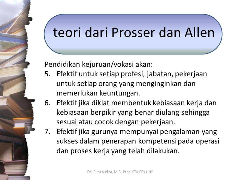 teori dari Prosser dan Allen