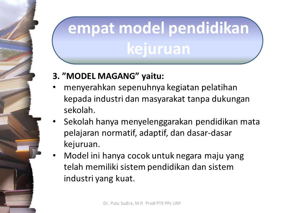 empat model pendidikan kejuruan