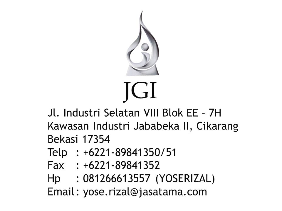 JGI Jl. Industri Selatan VIII Blok EE – 7H