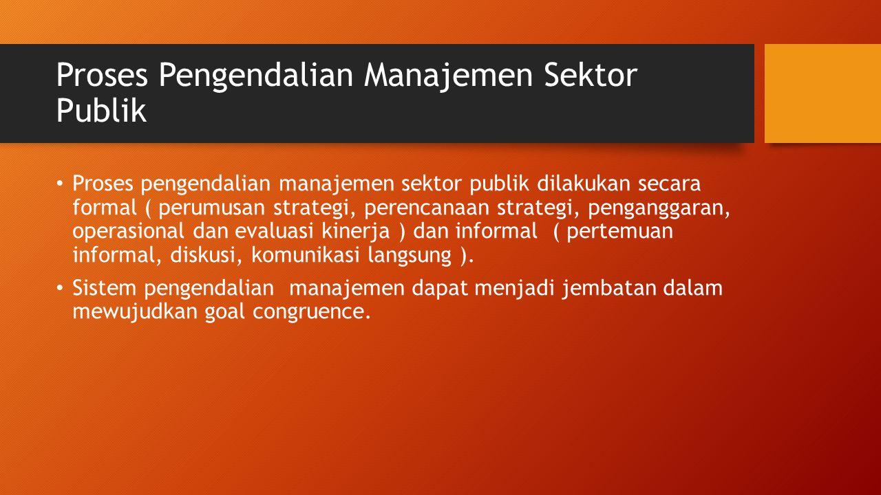 Proses Pengendalian Manajemen Sektor Publik