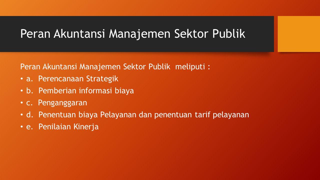 Peran Akuntansi Manajemen Sektor Publik