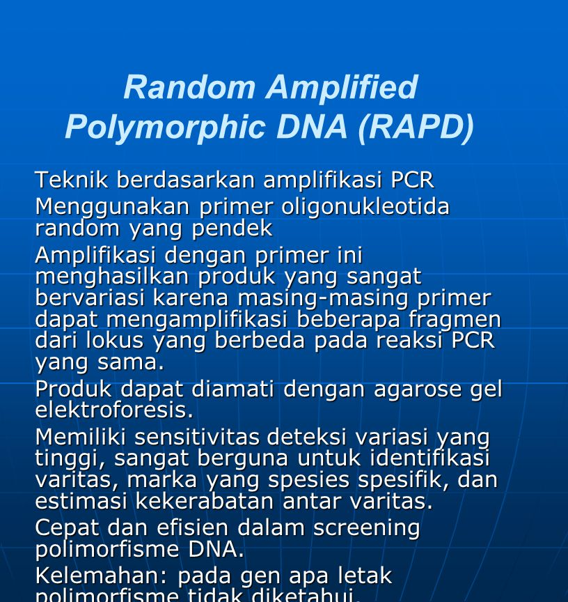 Random Amplified Polymorphic DNA (RAPD)