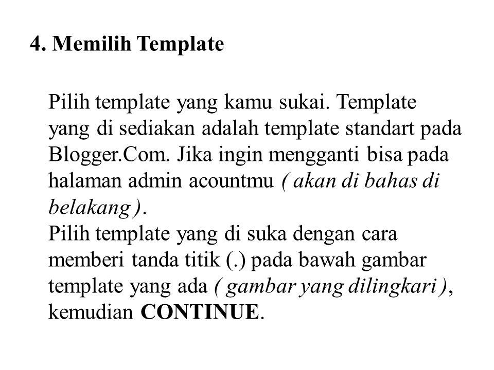 4. Memilih Template