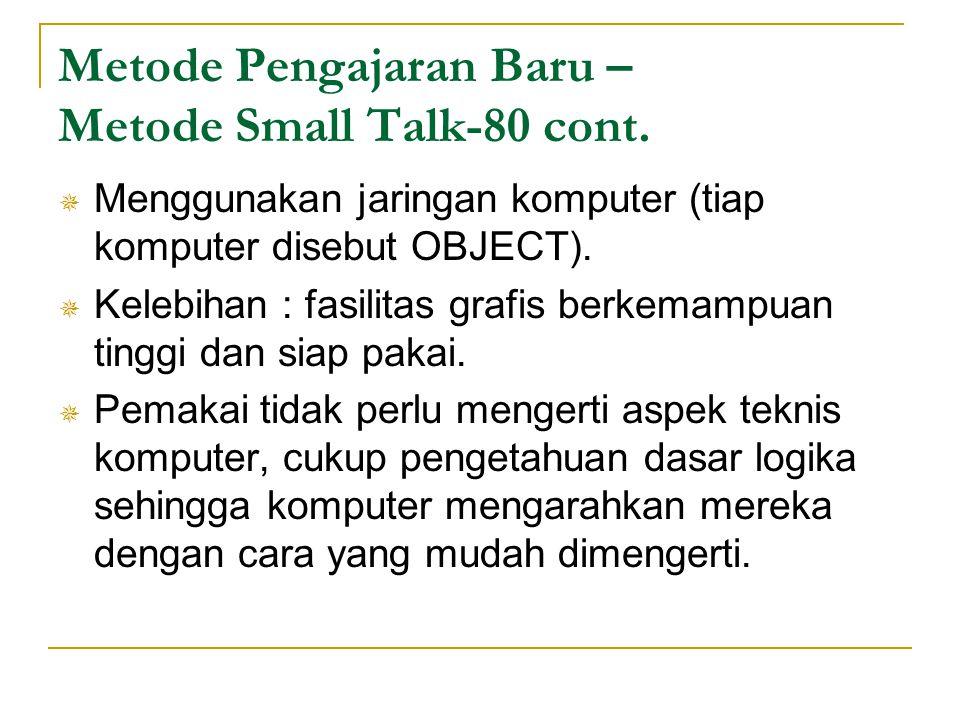 Metode Pengajaran Baru – Metode Small Talk-80 cont.