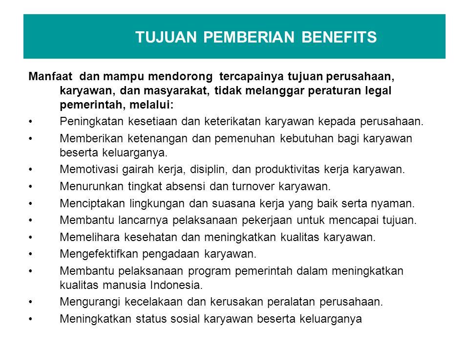 TUJUAN PEMBERIAN BENEFITS