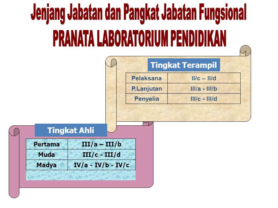 Jenjang Jabatan dan Pangkat Jabatan Fungsional