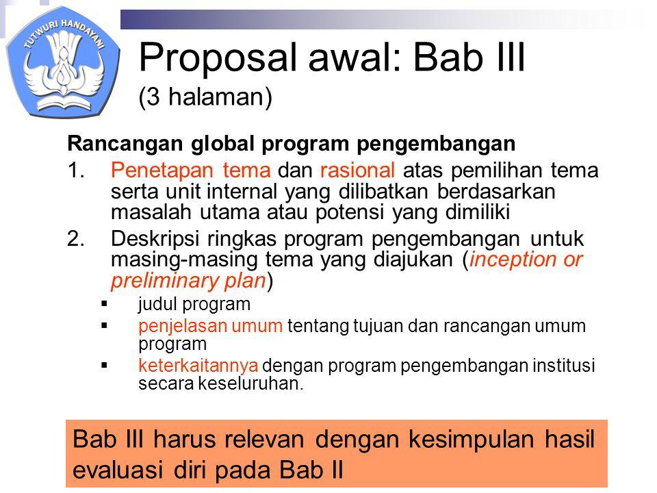 Proposal awal: Bab III (3 halaman)