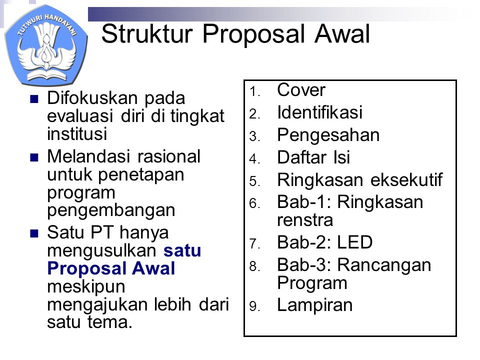 Struktur Proposal Awal