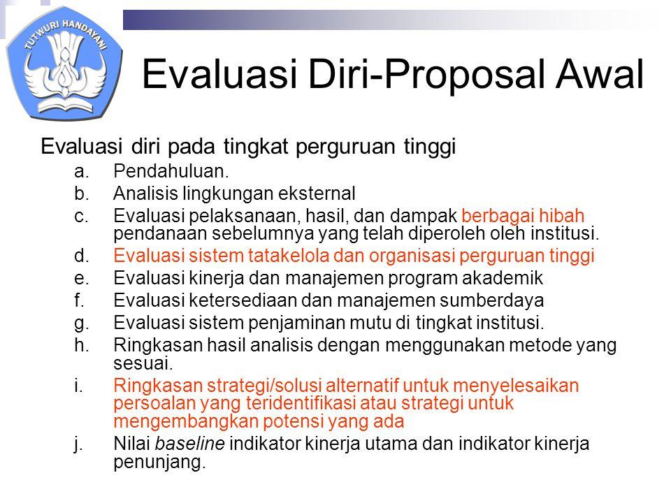 Evaluasi Diri-Proposal Awal