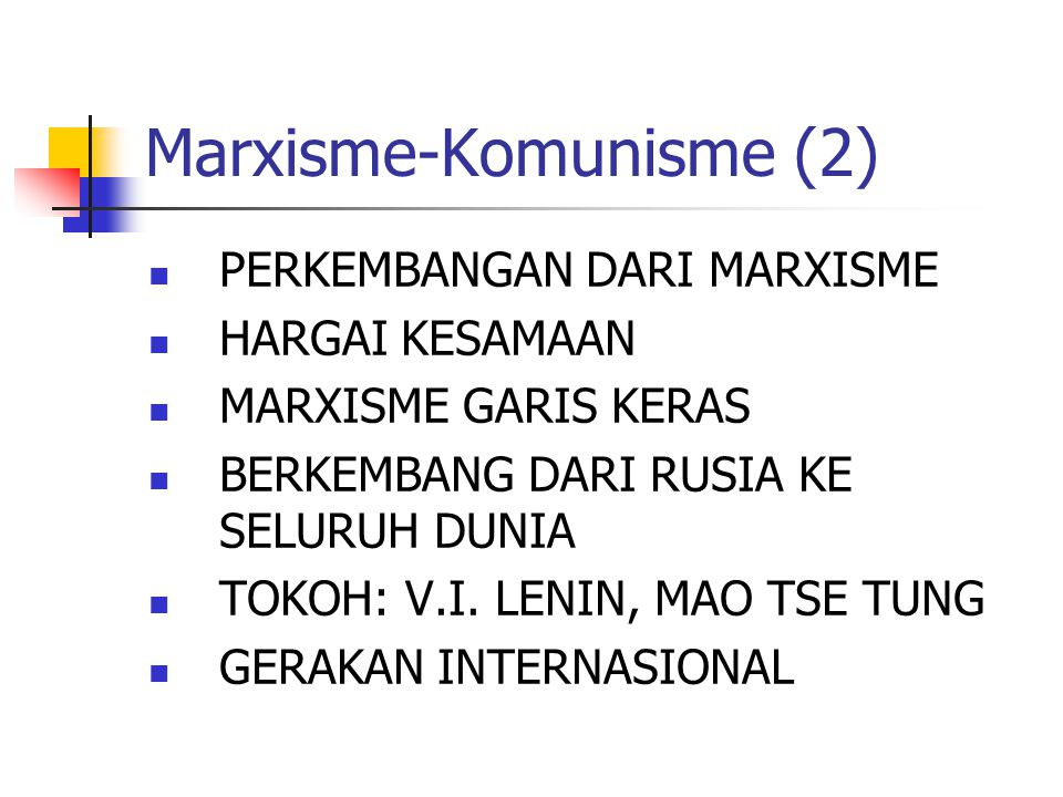 Marxisme-Komunisme (2)