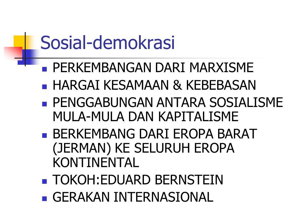 Sosial-demokrasi PERKEMBANGAN DARI MARXISME
