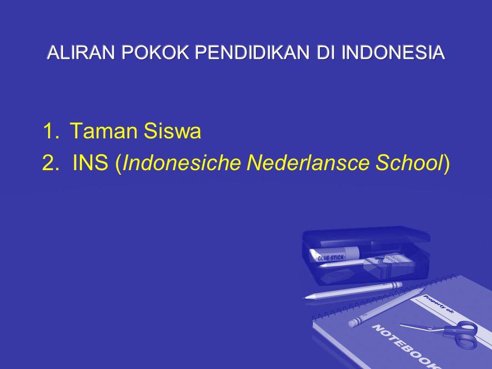 ALIRAN POKOK PENDIDIKAN DI INDONESIA