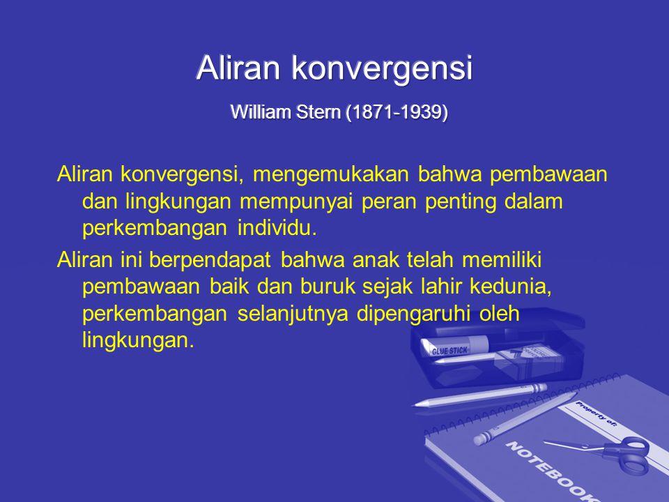 Aliran konvergensi William Stern (1871-1939)