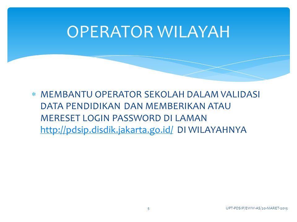 OPERATOR WILAYAH