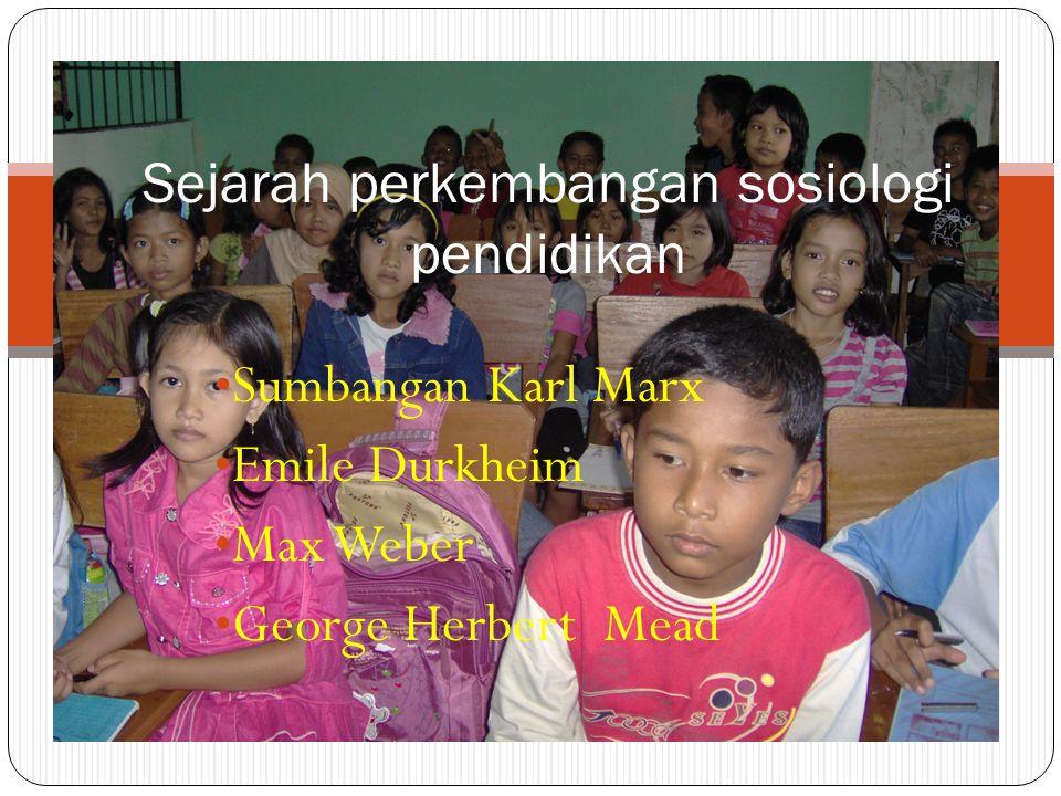 Sejarah perkembangan sosiologi pendidikan