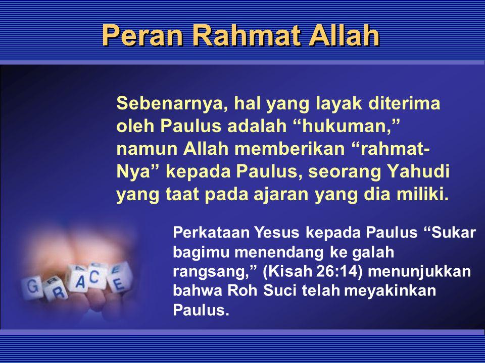 Peran Rahmat Allah